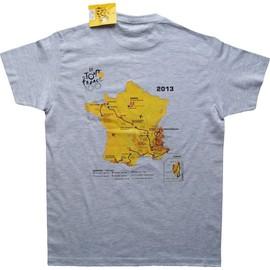 T-Shirt - Collection Officielle Le Tour De France - Cyclisme Parcours Maillot Jaune 2013