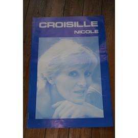 affiche 60x40cm de concert chanteuse nicole croisille / rare