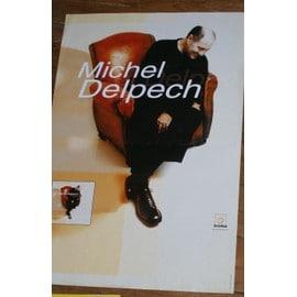 affiche 60x40cm chanteur michel delpech