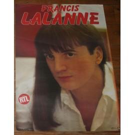 affiche 40x60cm années 80 chanteur francais francis lalanne