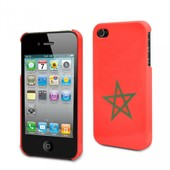 Coque Iphone 4 Rigide D'origine Muvit Motif Drapeau Maroc Iphone 4/4s Pour Le Apple Iphone 4
