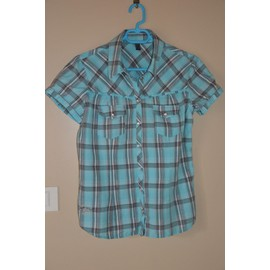 Chemise Only - Taille L Turquoise � Carreaux