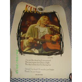 Kurt Cobain NIRVANA Poster Lyrics from Dumb 90X64