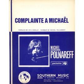 MICHEL POLNAREFF RARE PARTITION BELGE COMPLAINTE A MICHAEL