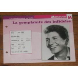 fiche chanson marcel mouloudji : la complainte des infidèles