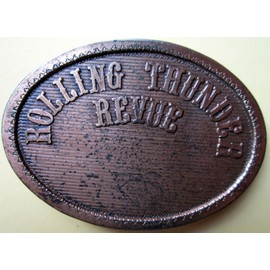 Bob Dylan Rolling thunder revue - boucle ceinture cuivre 1976/1976 brass belt buckle