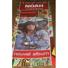 Ultra Rare Plv Gd Format 60x 150cm yannick noah Recto Verso Album Frontières Plastifiée A Suspendre