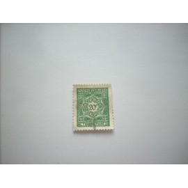 timbre taxe postes algerie 20f oblitere