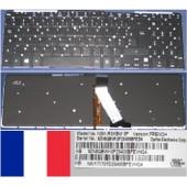 Clavier Azerty Fran�ais / French Pour ACER Aspire M5 M5-581T Series, Noir / Black, BACKLIT, Model: NSK-R3KBW, P/N: 9Z.N8QBW.K0F, NKI171707D2