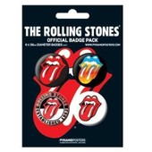 Lot De 4 Badges Rolling Stones