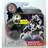 Figurine Bakugan Battle Suit Clawbruk Gris - 20055726 + 2 Cartes De Ma�trise
