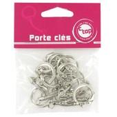 Sachet Attaches Porte-Clefs Argent�es- 10 Pi�ces