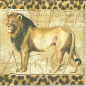 Lot De 2 Serviettes D�co Papier: Le Lion