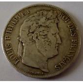 Piece De France 5 Francs (A) Louis Philippe I En Argent De 1837