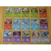 Pokemon - Lot De 15 Cartes Rares S�rie Noir Et Blanc Fronti�res Franchies
