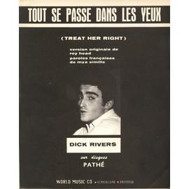 DICK RIVERS  PARTITION  TOUT SE PASSE DANS LES YEUX