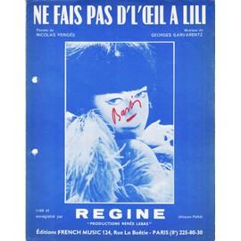 REGINE PARTITION NE FAIS PAS DE L'OEIL A LILI