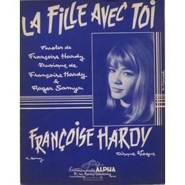 FRANCOISE HARDY  PARTITION  LA FILLE AVEC TOI