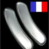 1 Paire De Protection Talon En Gel Silicone Chaussure Pied