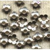 X 20 Petites Calottes Fleurs Argent Du Tibet Taille : 6.5 Mm