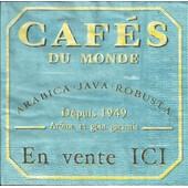 Lot De 2 Serviettes D�co Papier: Caf�s Du Monde