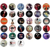 Indochine - Lot De 33 Badges