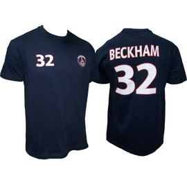 T-Shirt Psg David Beckham N�32 - Collection Officielle Paris Saint Germain - Blason Maillot - Tee Shirt Taille Adulte Homme