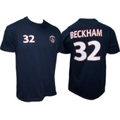 T-Shirt Psg David Beckham N�32 - Collection Officielle Paris Saint Germain - Blason Maillot - Tee Shirt Taille Enfant Gar�on