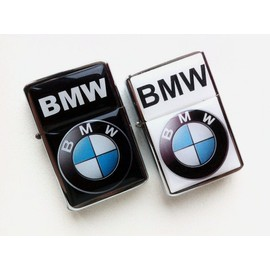 Briquet Type Zippo Temp�te Bmw Noir Et Chrom� Rechargeable Essence