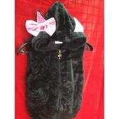 Veste Sweat Top Haut Gilet Femme Capuche Oreille De Chat Mignon Noir Gothique Lolita