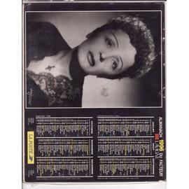 calendrier  1996 avec Edith Piaf et Gainsbourg