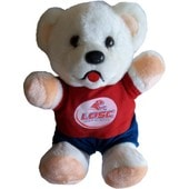 Peluche Ours Nounours Maillot Losc - Collection Officielle Lille Olympique Sporting Club