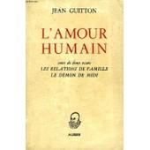 L'amour Humain de jean guitton