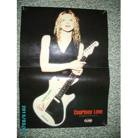 Courtney Love HOLE poster Guitar World