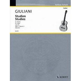 Giuliani : Studies for guitar vol. 1 Guitar Archive