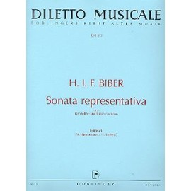 BIBER Sonata Representativa in A Sonate pour violon et basse continue / rév. : Nikolaus Harnoncourt / réal. continuo : Herbert Tachezi (Erstdruck)