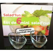 Lot De 6 Mini Salad'cup Fun