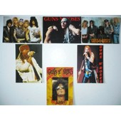 Lot 6 Cartes Postales Guns N' Roses Axl Rose