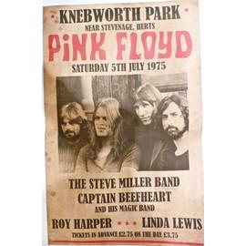 affiche de concert pink floyd the steve miller band captain beefheart