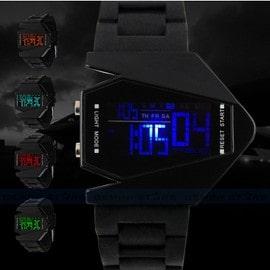 Montre Bracelet Silicone Led Digital Sport Arm�e Militaire Avion Homme Watch