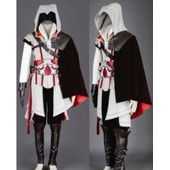 Coton Cuir Style Assassin Creed Ezio Cosplay Costume Compelet Luxe