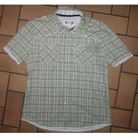 Chemise Homme : Mustang - Manches Courtes - Taille Xl