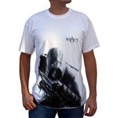 Assassin\'s Creed - Tshirt Alta�r Homme Mc Blanc - Taille Xxl