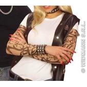 Paire Manches Tatouees Mixte Deguisement Rockeur Faux Tatouage Maquillage Femme Ou Femme