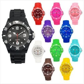 Lot De 5 Montres Silicone Couleur Watch Fashion