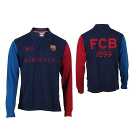 Polo - Fc Barcelone - Collection Officielle - Fc Barcelona - Barca - Football Liga Espagne - Blason Maillot Club - Manches Longues