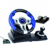 Wireless Rf Steering Wheel And Pedals (Ps3/Ps2/Pc)