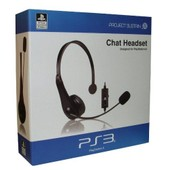 New! Venom Officially Licensed Chat Headset Sony Playstation 3 Ps3