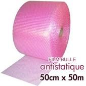 Rouleau De Film Bulle D'air Antistatique 50cm X 50m