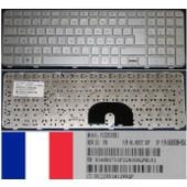 Clavier Azerty Fran�ais / French Pour HP Pavilion DV6-6000 DV6-6100 DV6-6200 Series, Gris Clair / Silver, Silver-frame, Model: V122630BK1, P/N: 90.4RH07.U0F, 665938-051, BCJJHX1M12WHQP
